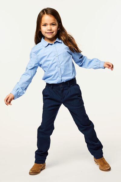 kinderblouse lichtblauw 158/164 - 30890377 - HEMA