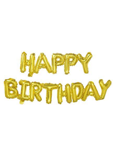 folie ballon Happy Birthday - 14230018 - HEMA