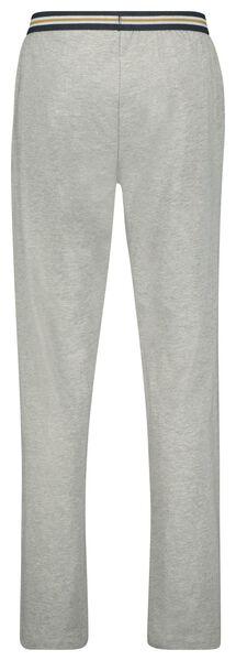 heren pyjamabroek katoen stretch grijsmelange grijsmelange - 1000023329 - HEMA