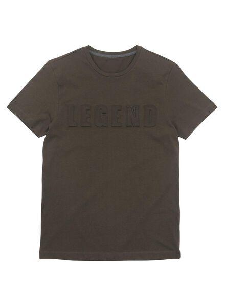 heren t-shirt donkergroen donkergroen - 1000010523 - HEMA