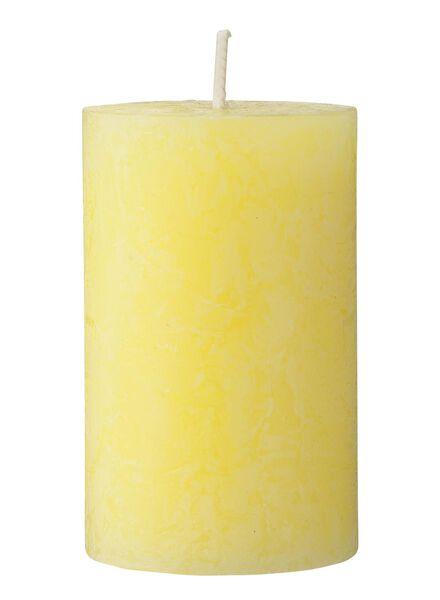 rustieke kaars 5 x 8 cm geel 5 x 8 - 13503377 - HEMA