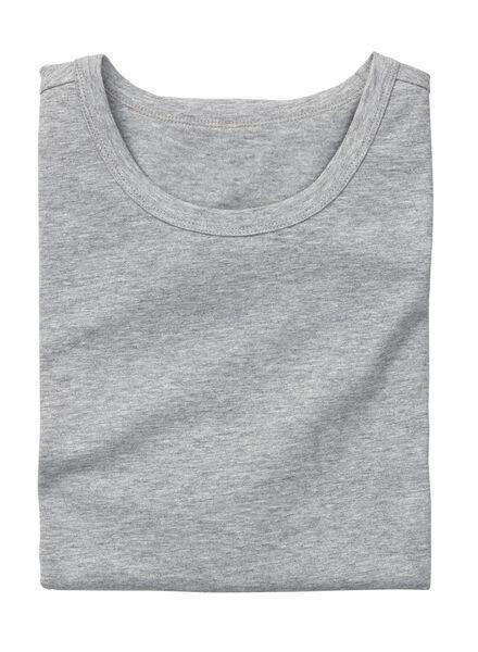 heren t-shirt slim-fit grijsmelange grijsmelange - 1000005974 - HEMA