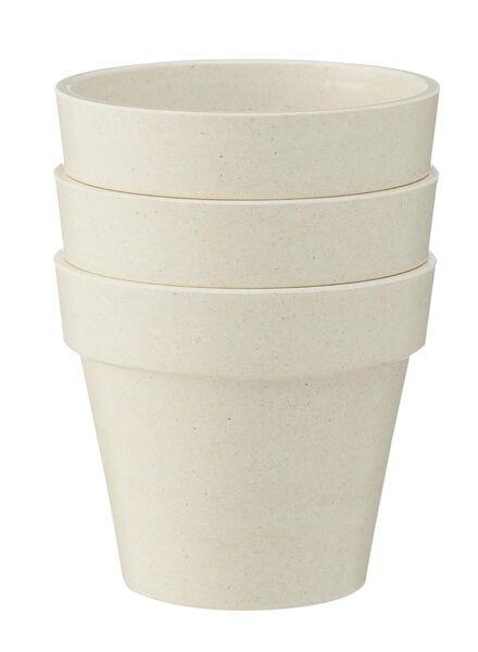 3-pak bamboe potten - 13300101 - HEMA