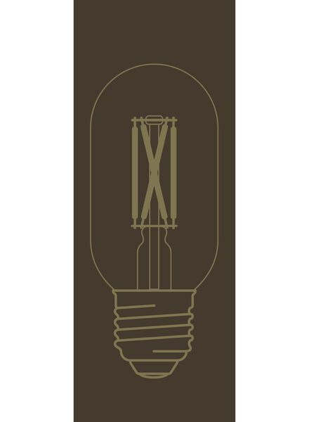 LED lamp 4W - 320 lm - buis - goud - 20020084 - HEMA