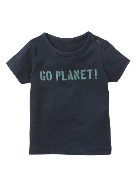 baby t-shirts 2 stuks donkerblauw donkerblauw - 1000013215 - HEMA