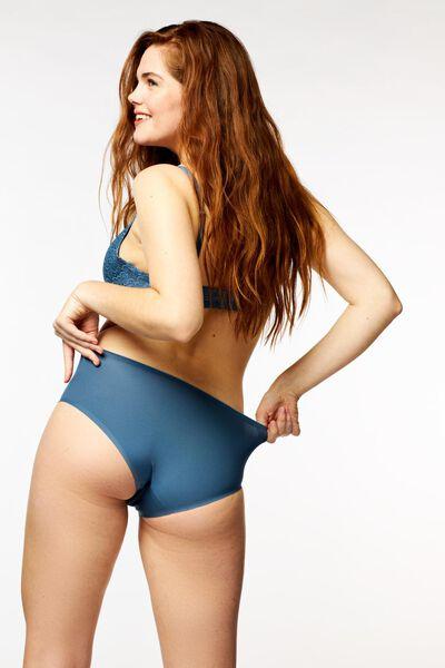 dameshipster second skin micro middenblauw middenblauw - 1000022643 - HEMA