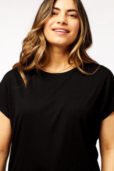 dames t-shirt zwart - 1000023978 - HEMA