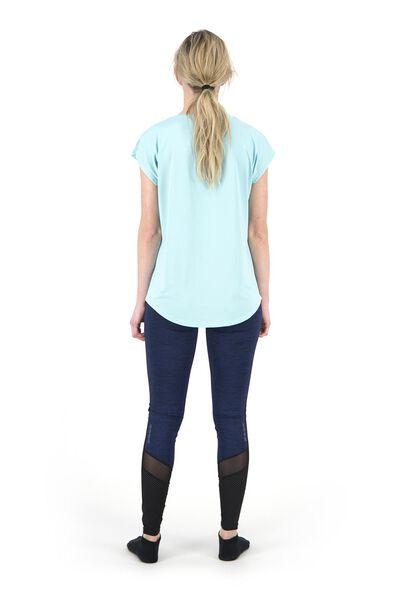 dames sportshirt loose fit mintgroen L - 36050233 - HEMA