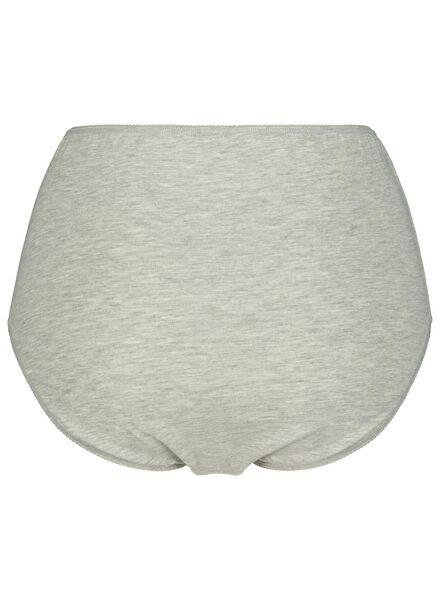 3-pak damesslips katoen grijsmelange grijsmelange - 1000014496 - HEMA
