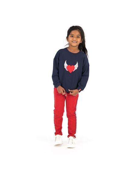 kinder sweatbroek rood rood - 1000013488 - HEMA