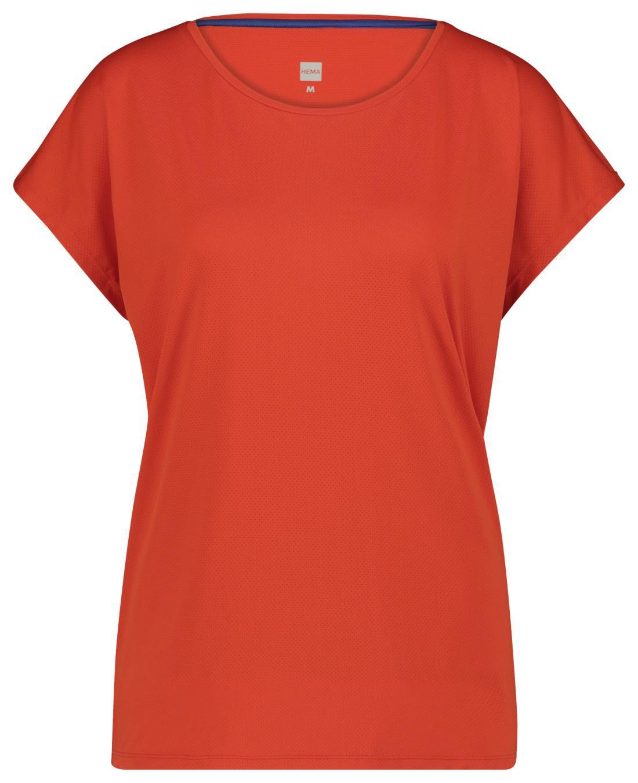 HEMA Dames Sportshirt Loose Fit Oranje (oranje)