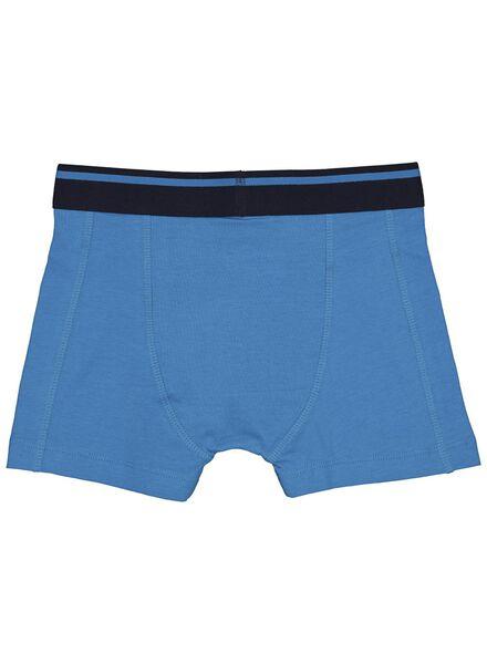 kinderboxers - 4 stuks blauw blauw - 1000013483 - HEMA
