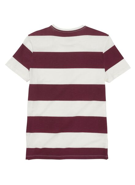 heren t-shirt streep donkerrood donkerrood - 1000013340 - HEMA
