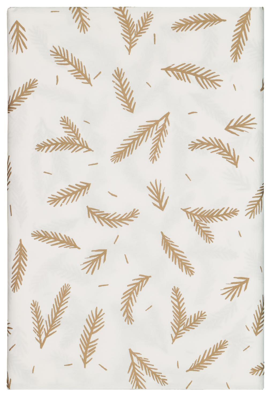 HEMA Tafelkleed Papier 138x280 Wit Met Bladeren (wit)