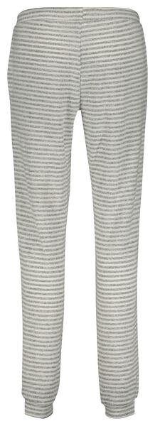dames pyjamabroek strepen grijsmelange grijsmelange - 1000022619 - HEMA