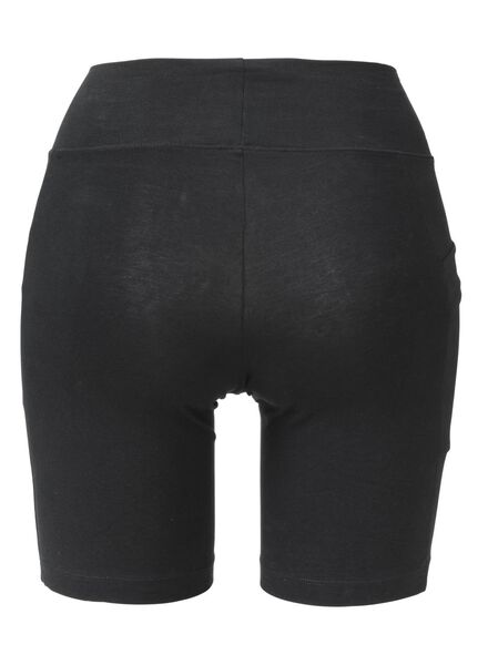 dames fietsshort real lasting cotton zwart S - 19606161 - HEMA