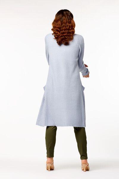 damesvest rib gebreid lichtblauw - 1000023508 - HEMA