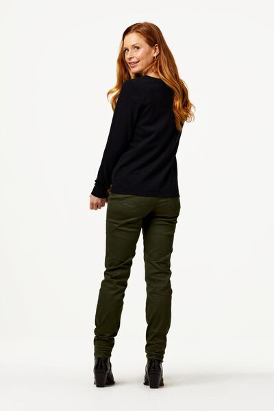 dames t-shirt structuur zwart L - 36208063 - HEMA