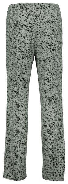 dames pyjamabroek stippen groen groen - 1000022618 - HEMA