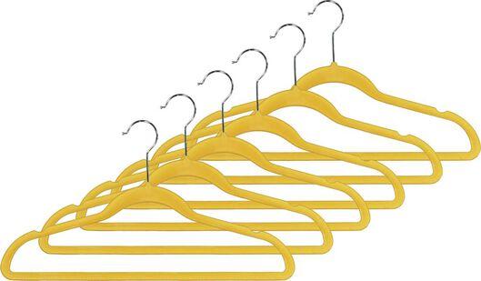 kledinghangers velours okergeel - 6 stuks - 39820502 - HEMA