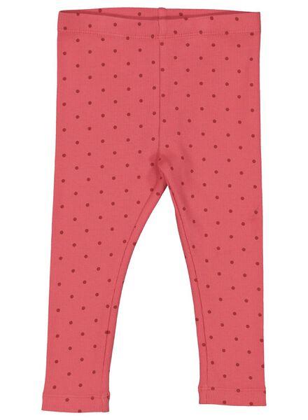 babylegging rib roze roze - 1000014350 - HEMA