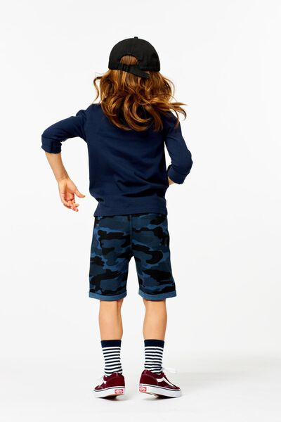 kinder t-shirt - biologisch katoen donkerblauw donkerblauw - 1000003410 - HEMA