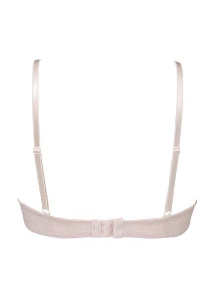 2-pak padded t-shirt bh's A-D grijsmelange grijsmelange - 1000006604 - HEMA