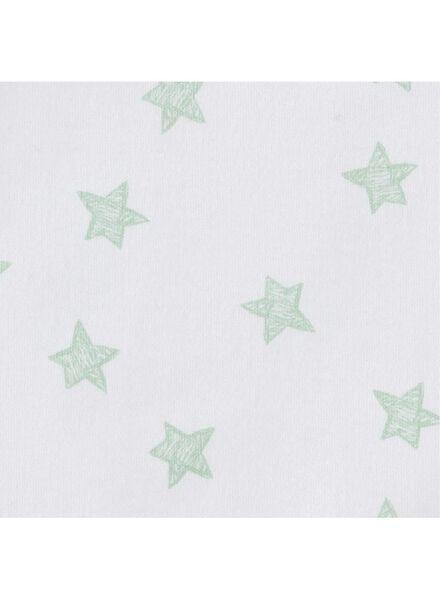 romper organic katoen stretch - 4 stuks wit wit - 1000011463 - HEMA