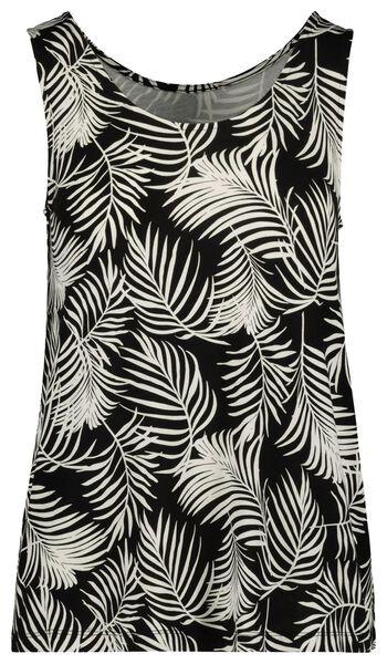 damessinglet zwart/wit zwart/wit - 1000019448 - HEMA