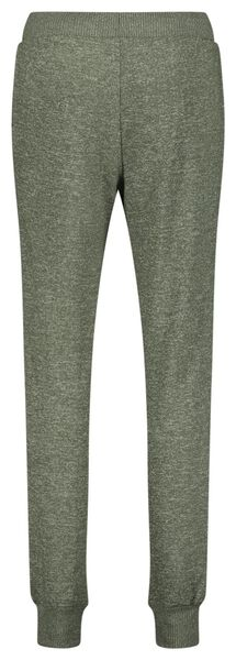 dames pyjamabroek sweat groen S - 23419101 - HEMA