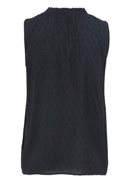 damesblouse donkerblauw - 1000009357 - HEMA