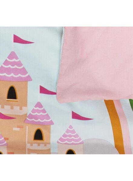 peuterdekbedovertrek - 120 x 150 cm - kasteel roze - 5740017 - HEMA