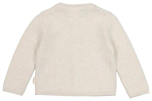 newborn vest organic katoen gebreid wit wit - 1000020820 - HEMA