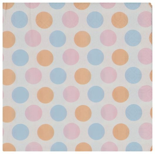servetten 33x33 papier stippen - 20 stuks - 14200463 - HEMA