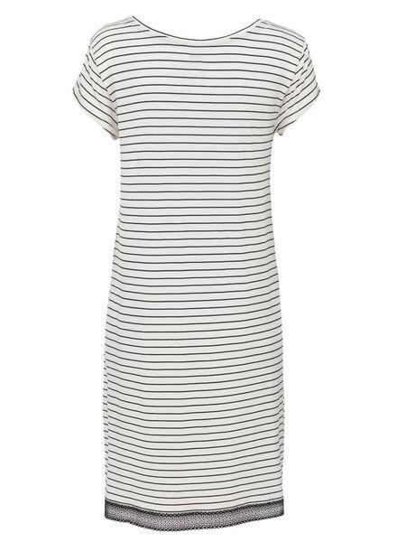 dames nachthemd viscose zwart/wit zwart/wit - 1000013157 - HEMA