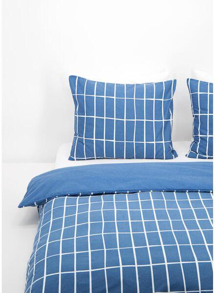 dekbedovertrek - flanel - ruit blauw blauw - 1000016603 - HEMA
