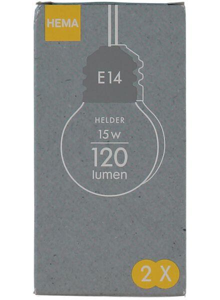 kogel gloeilamp 15w - kleine fitting - 20001157 - HEMA
