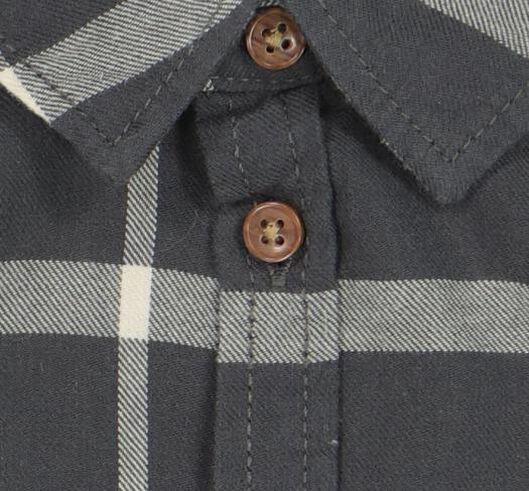baby overhemd ruit donkergrijs donkergrijs - 1000021123 - HEMA