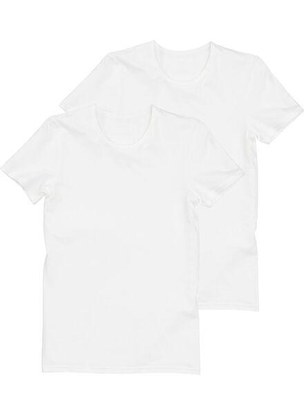 2-pak naadloze t-shirts wit wit - 1000001103 - HEMA