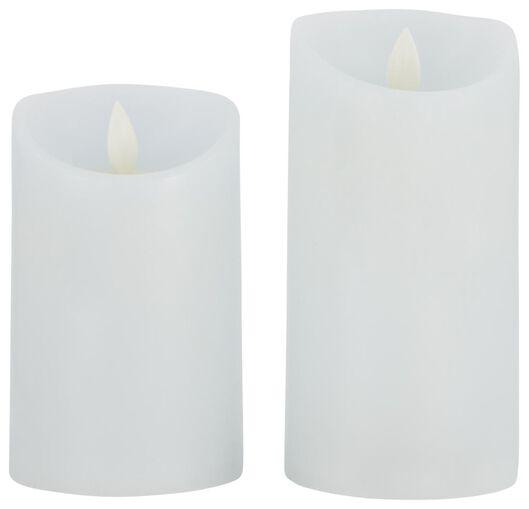 kaarsen LED blauwwit - 2 stuks - 41810287 - HEMA