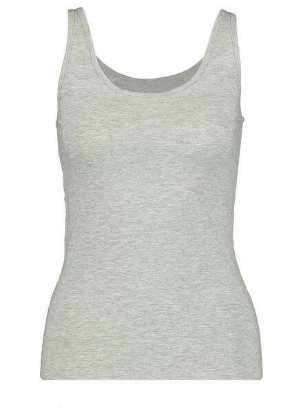 dameshemd katoen grijsmelange XS - 19610871 - HEMA