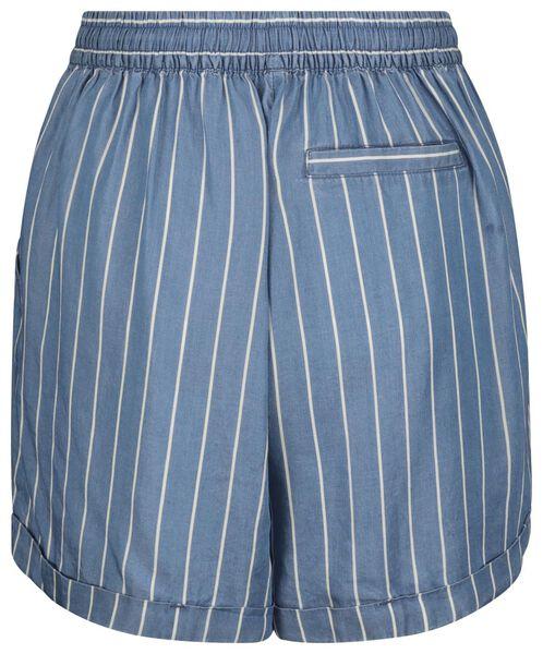 damesshort streep blauw blauw - 1000019535 - HEMA