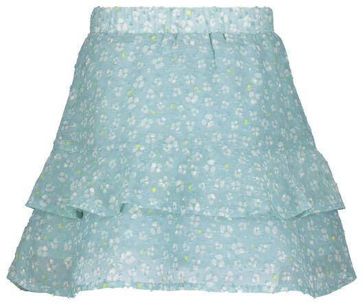 kinderrok met ruffles blauw blauw - 1000023290 - HEMA