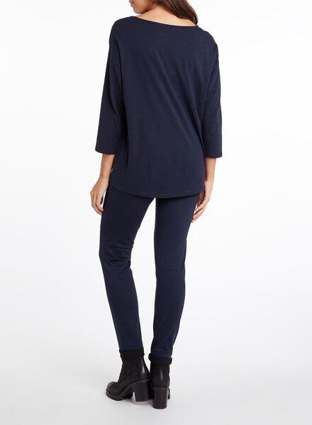 dames t-shirt donkerblauw donkerblauw - 1000010871 - HEMA