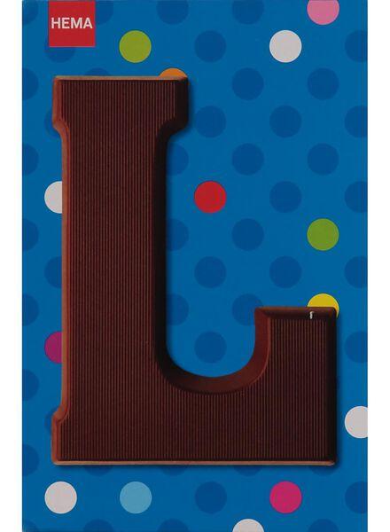 melkchocolade letter L - 10033010 - HEMA