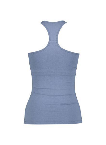 dameshemd met bh - racerback blauw blauw - 1000014578 - HEMA