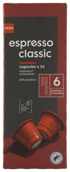 Koffiecups espresso classic - 24 stuks