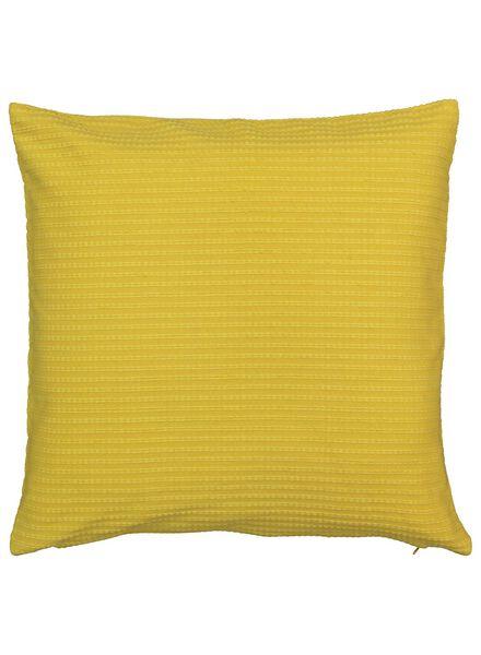 kussenhoes - 50 x 50 cm - geel geweven - 7392101 - HEMA