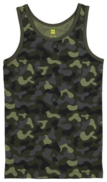 2-pak kinderhemden camouflage groen - 1000020863 - HEMA