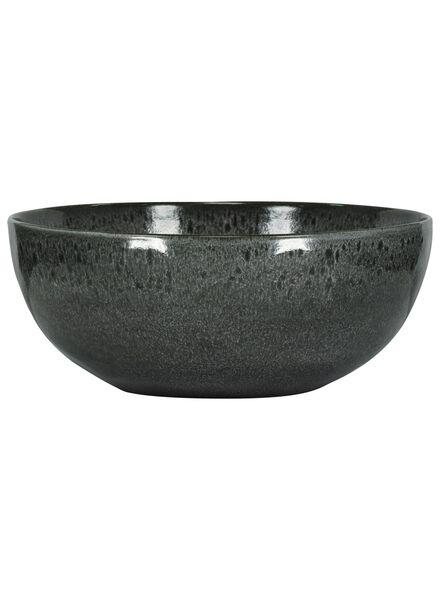 schaal - 26 cm - Porto - reactief glazuur - zwart - 9602037 - HEMA